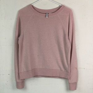 HM Divided Pink Scoop Neck Sweatshirt Small